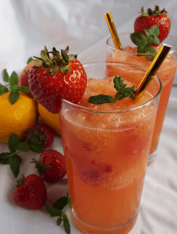 Strawberry Slush Cocktail