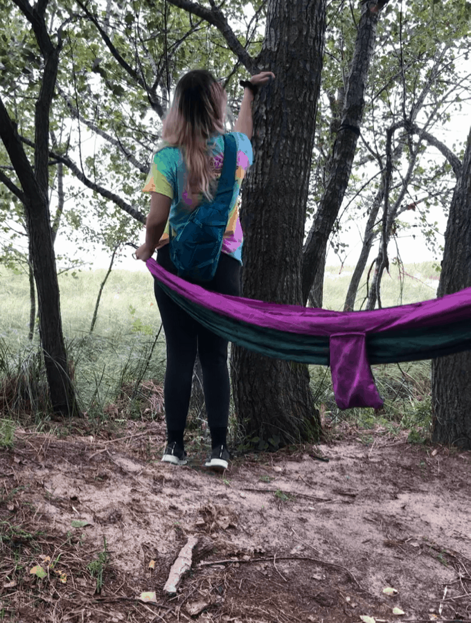 Hanging Other End Of Hammock