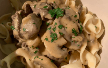 Venison Tips and Noodles