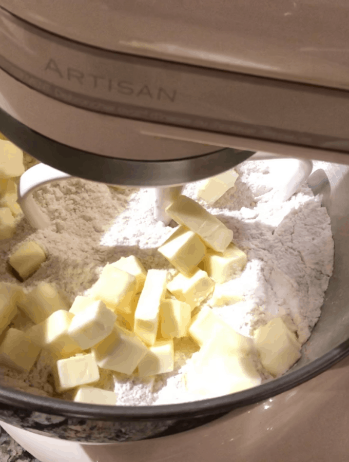 Add cold butter chunks
