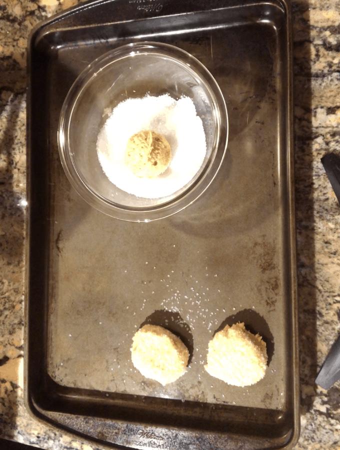 Dip Dough In Sanding Sugar