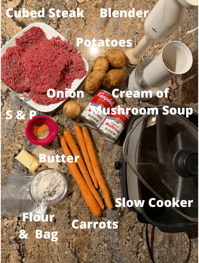 Swiss Steak Ingredients