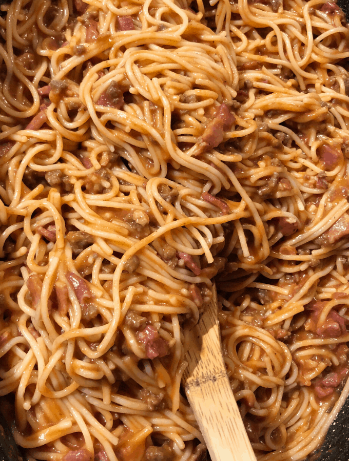 Unbaked Spaghetti