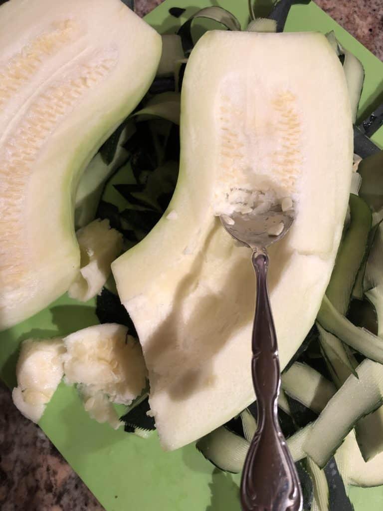 Deseeding A Zucchini
