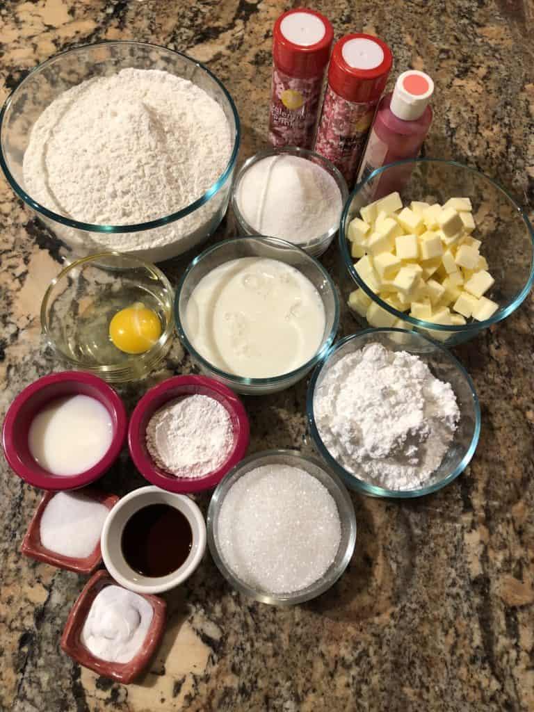 Valentines Sweets Ingredients
