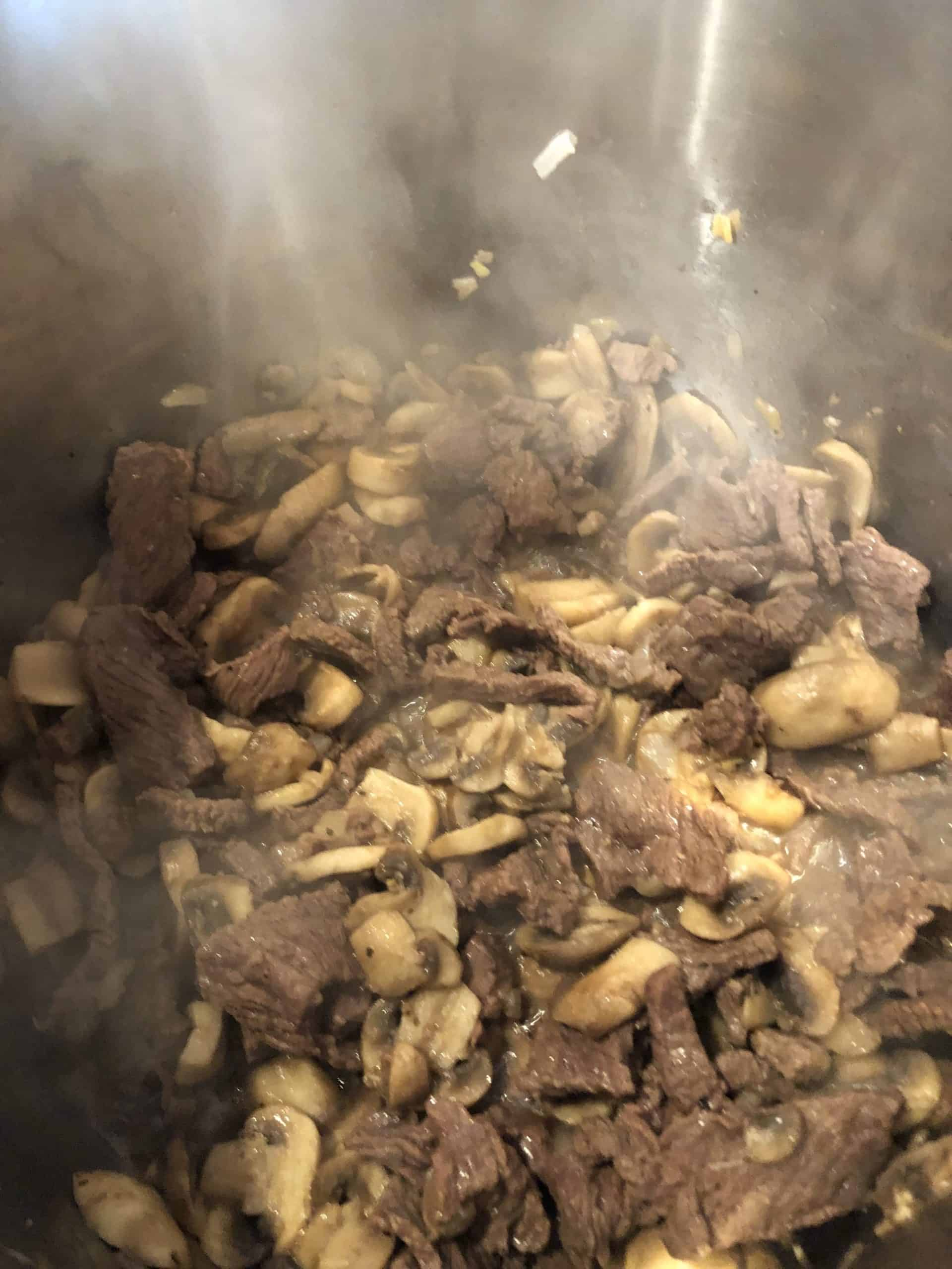 Sautéd Beef, Onions and Mushrooms