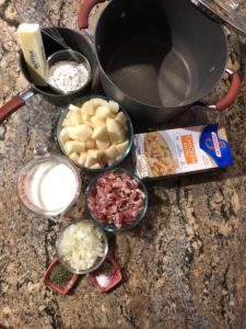 Bacon and Potato Soup Ingredients