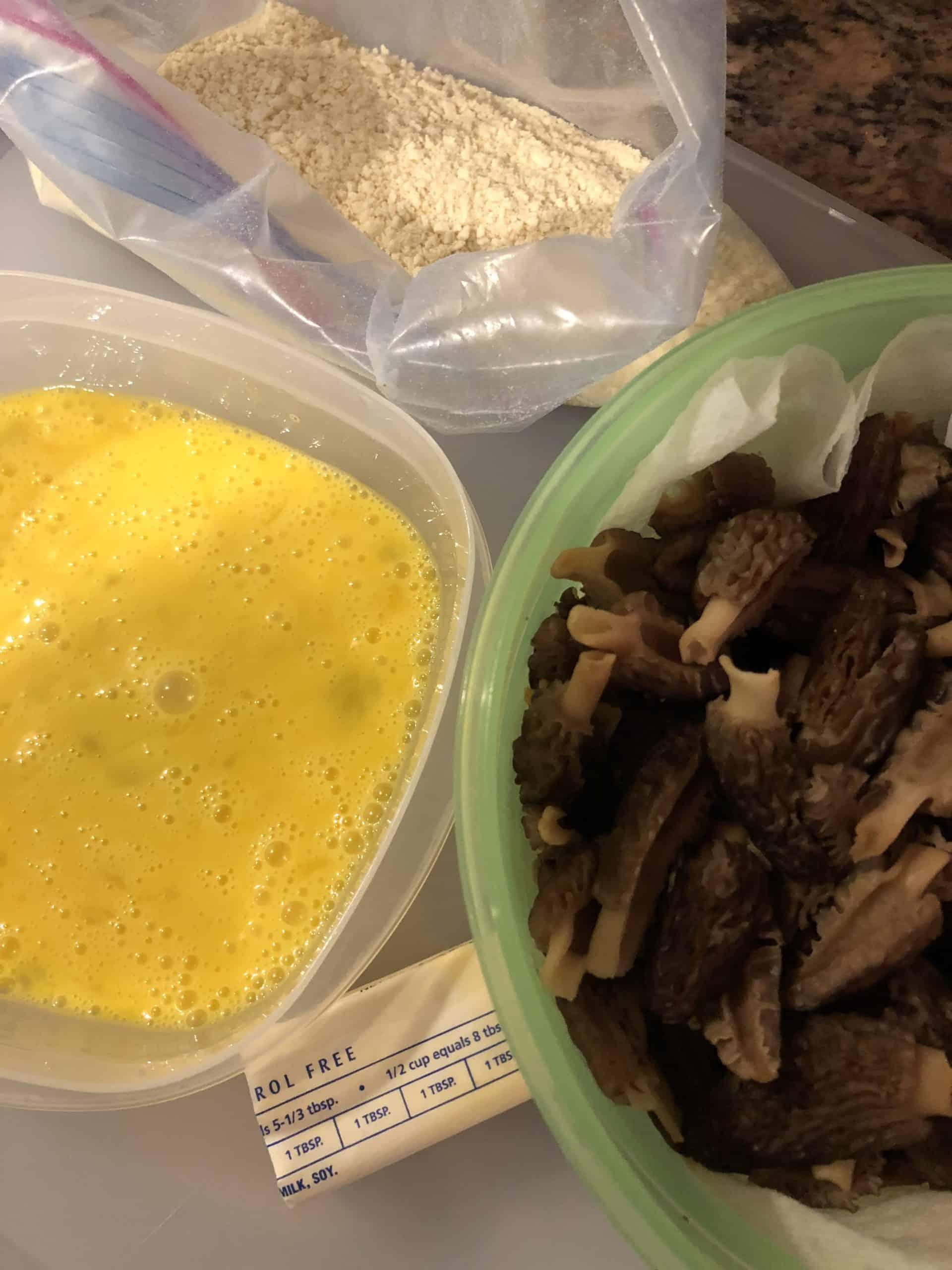 Pan Fried Morel Mushrooms Ingredients