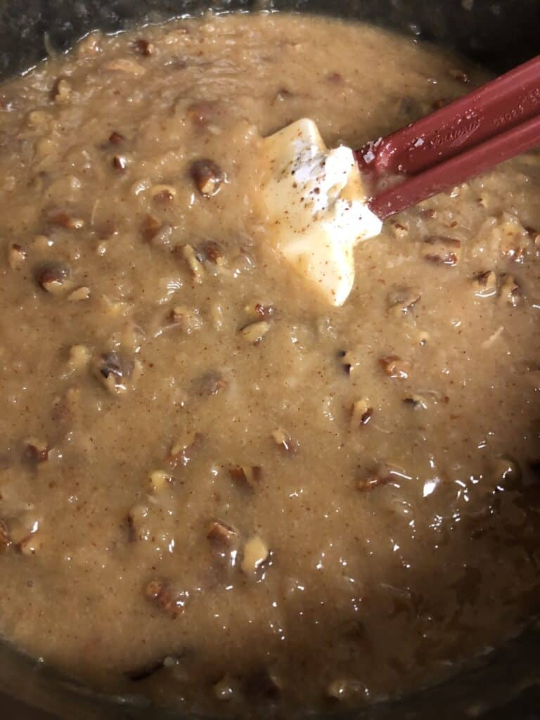 German Chocolate Frosting - Stage 2