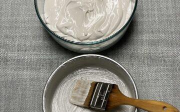 Pan Grease, Pan and Pastry Brush