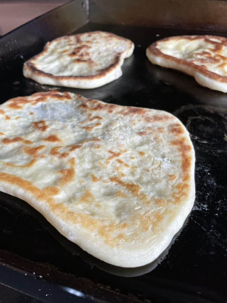 Naan on the Griddle