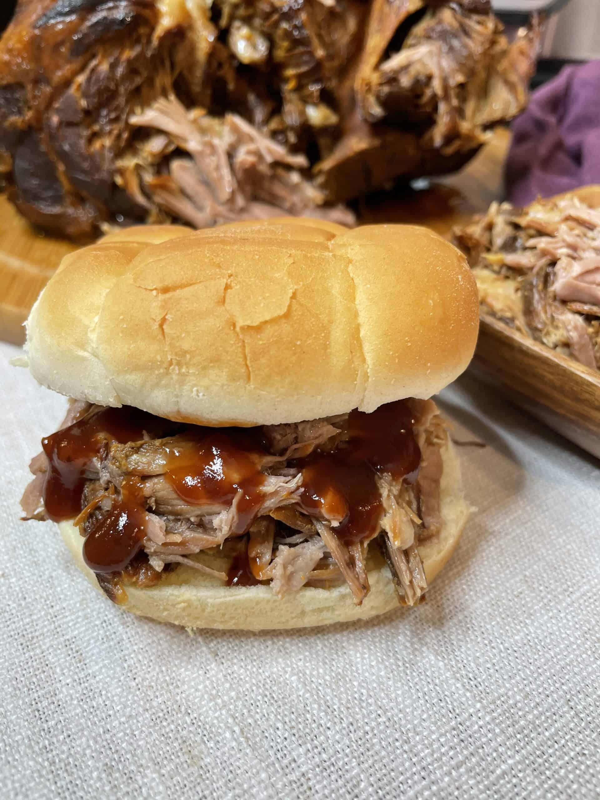 BBQ Shredded Pork Sandwich