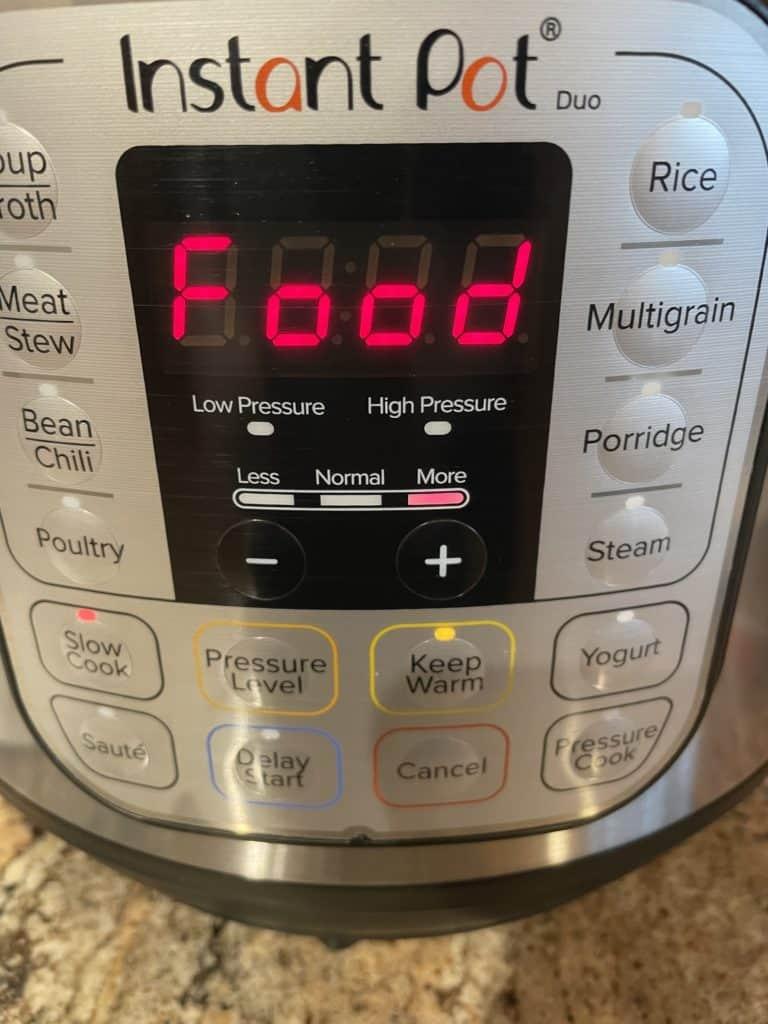 Instant Pot - Food message