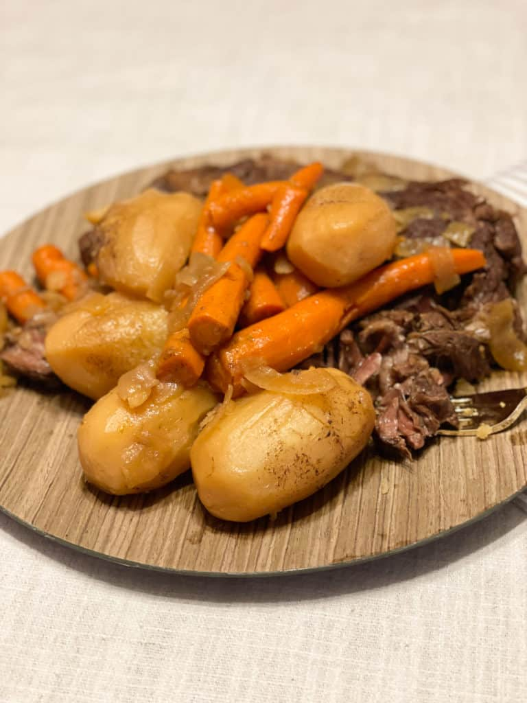Tender Pot Roast with Potatoes and Carrots.