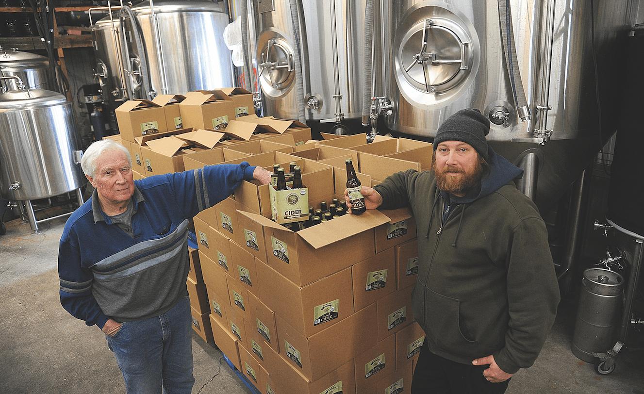 Dennis Mackey and Kyle Mackey at Northern Natural Cider House and Winery.