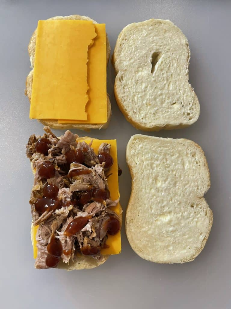 Pulled Pork Sandwich Assembly