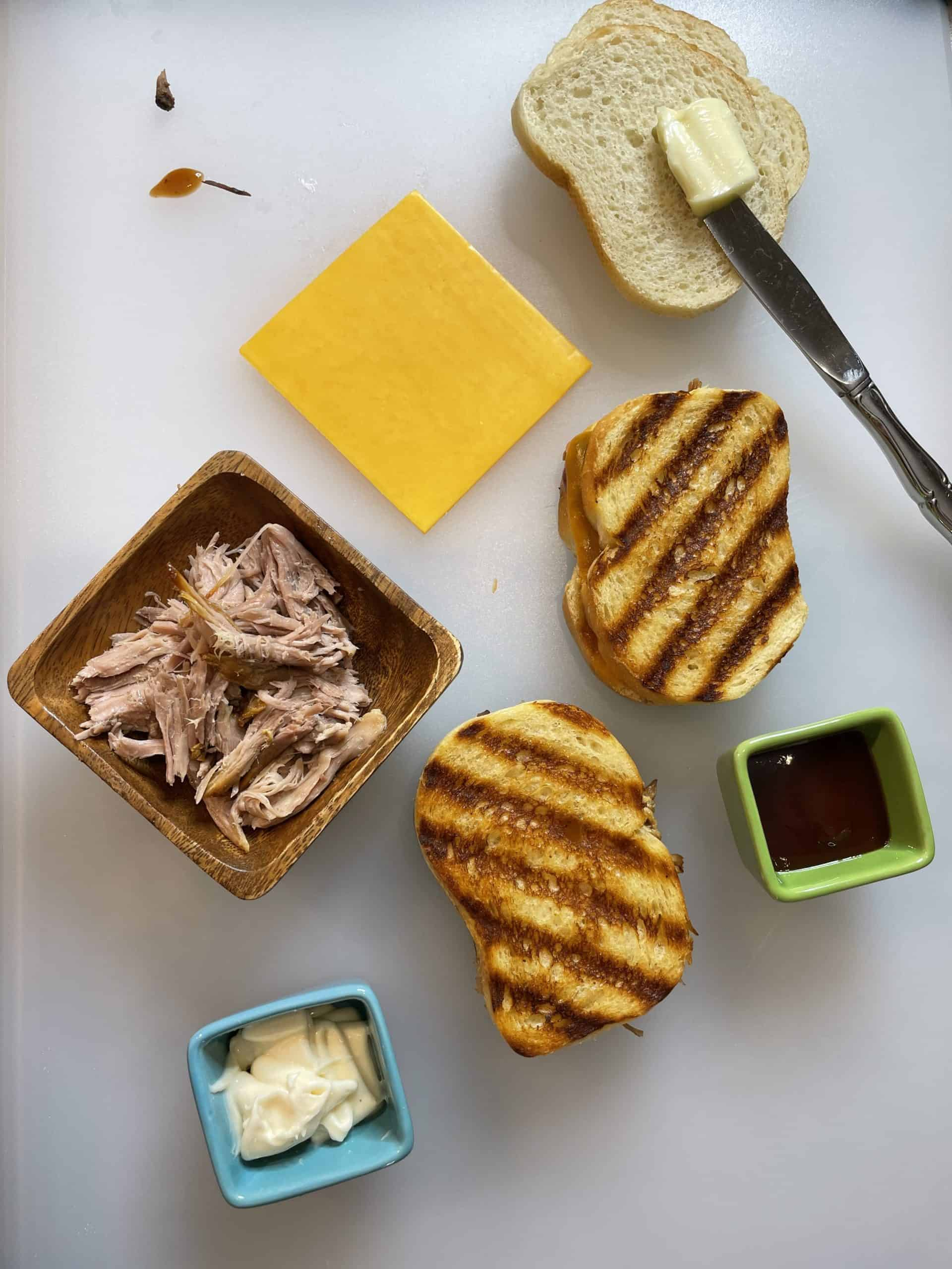 Pulled Pork Grilled Cheese Sandwich Ingredients