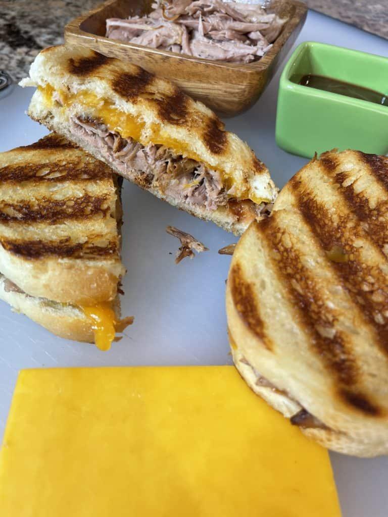 Cheddar Cheese Pulled Pork Sandwich