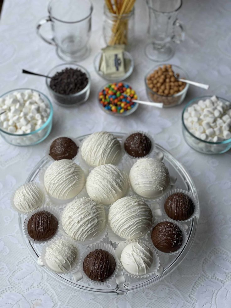 Wedding Hot Chocolate Bombs Bar with Toppings