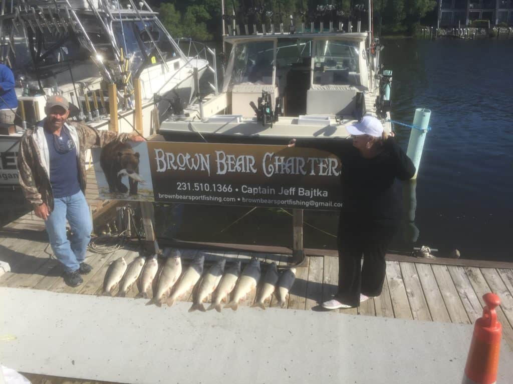 Brown Bear Sport Fishing Charter in Manistee, Michigan