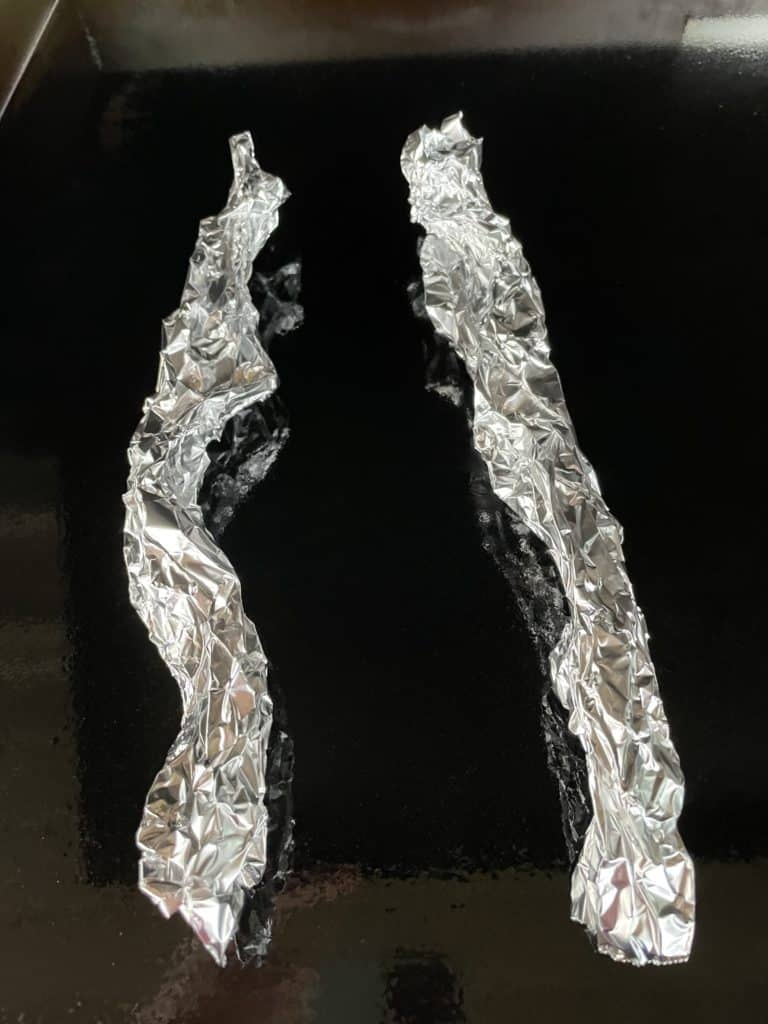 2 Strips of Crumpled Foil.