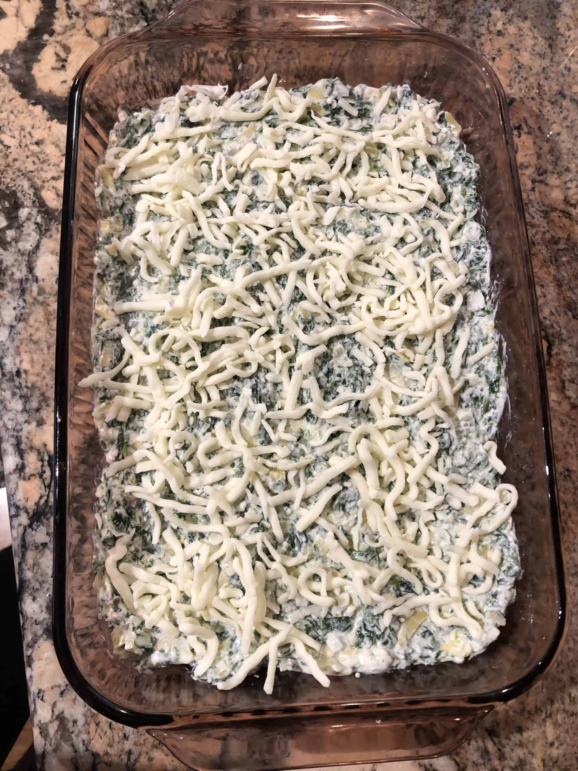 Unbaked Spinach Artichoke Dip
