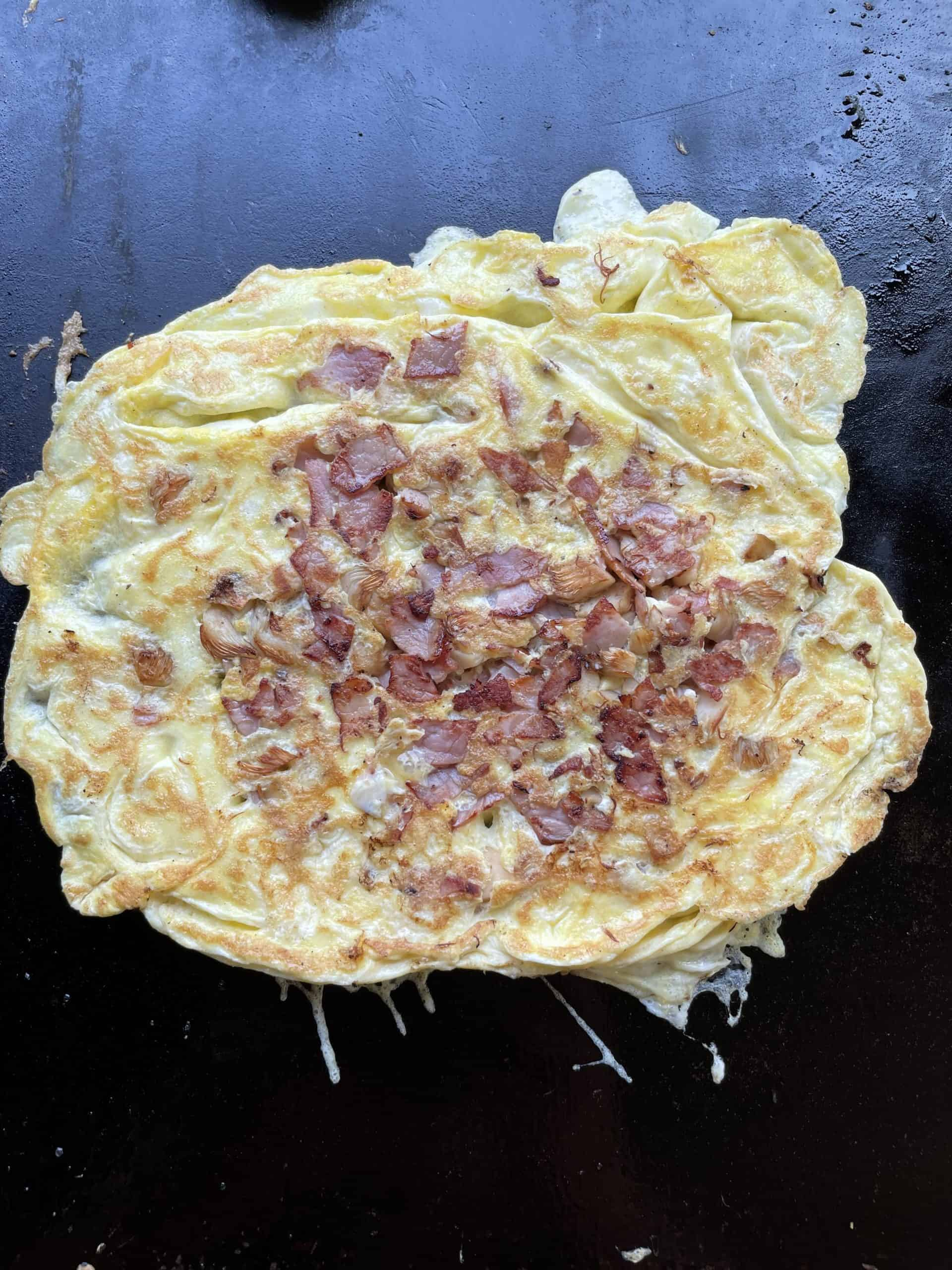 Flipped Griddle Omelette
