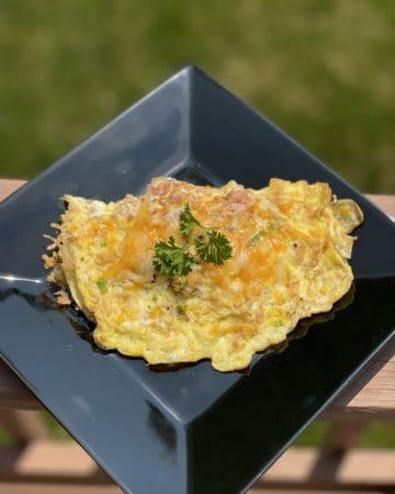 Lion's Mane Mushroom Ham and Cheese Omelette