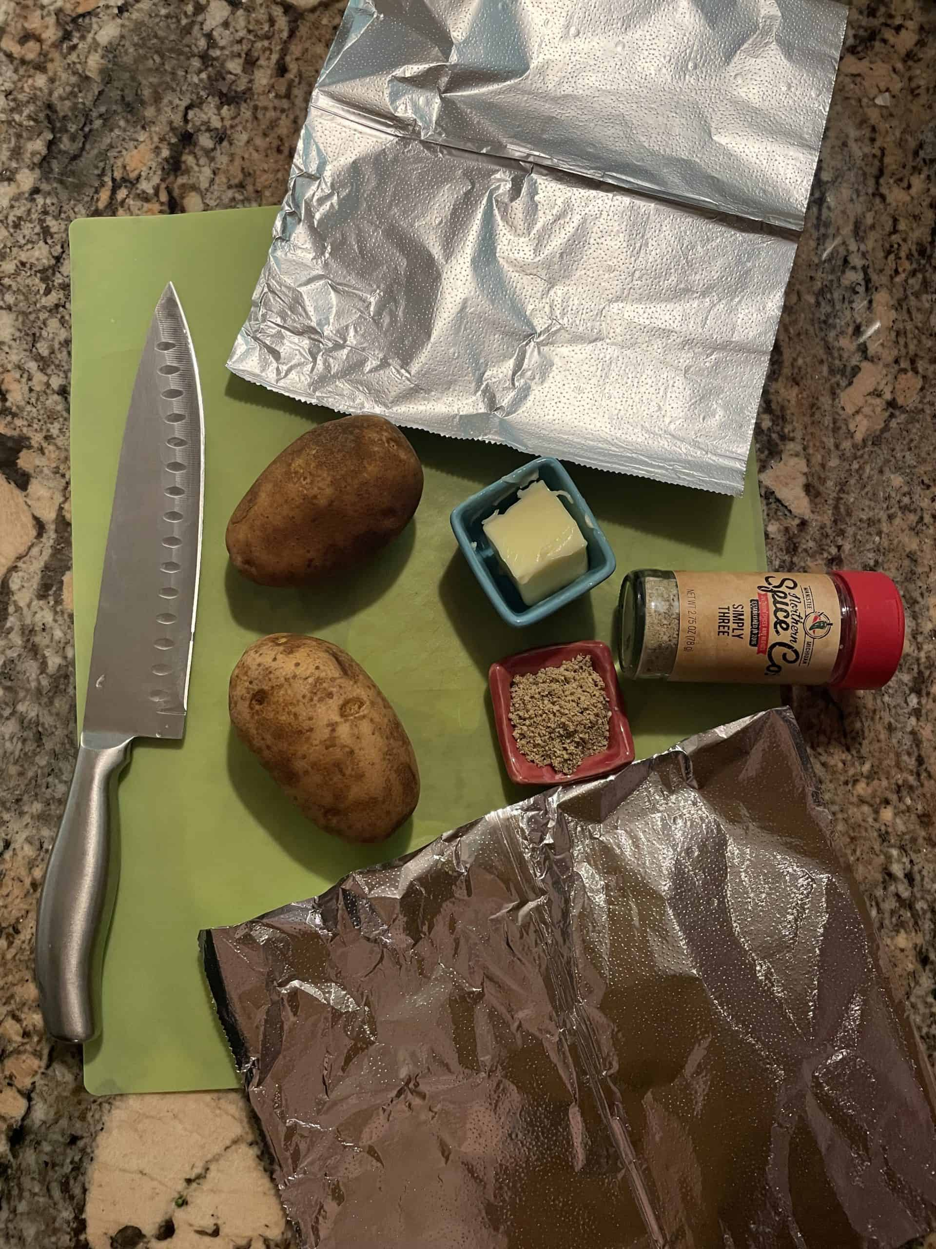 Hasselback Potato Ingredients