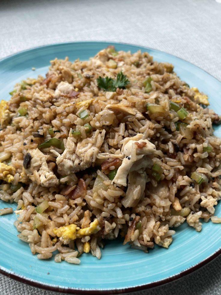A Platter of Chicken Fried Rice.