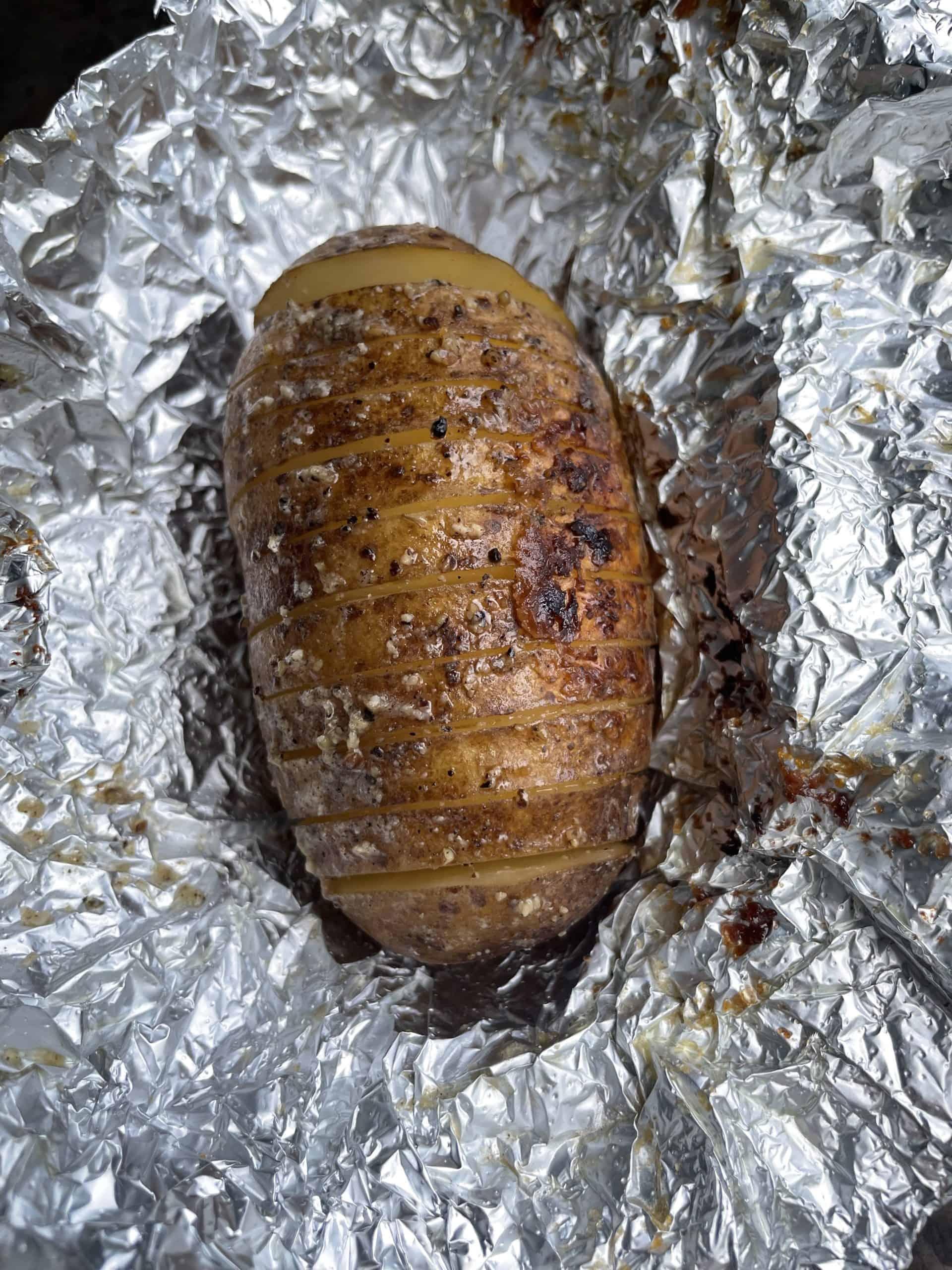 Cooked Hasselback Potato