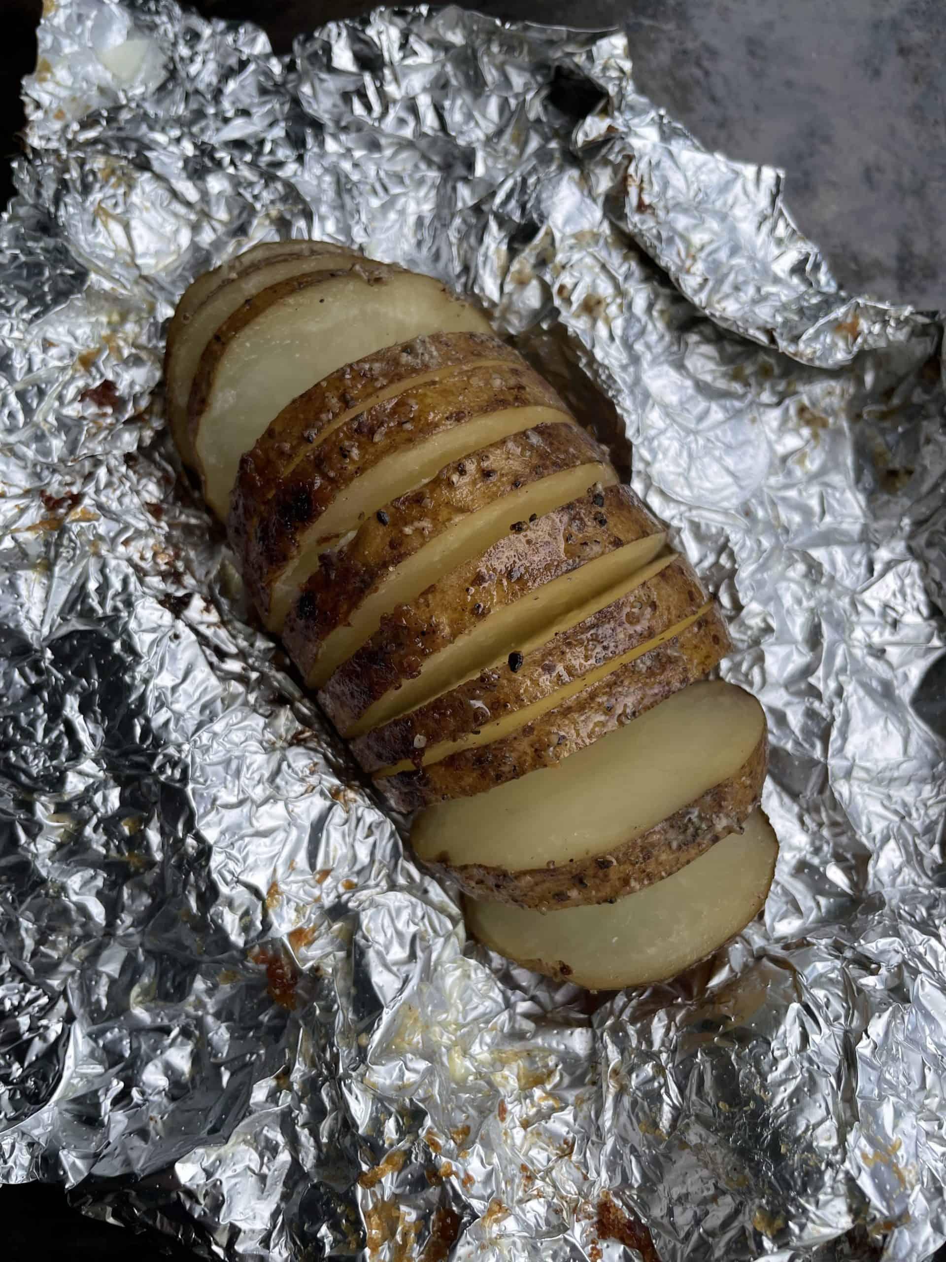 Fanned Hasselback Potato