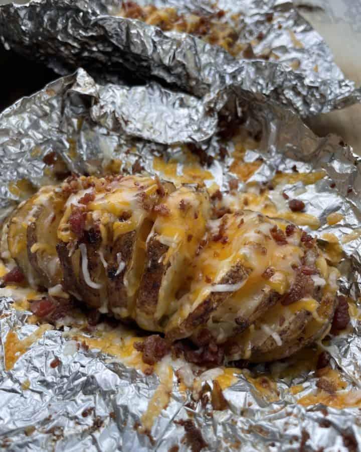Blackstone Griddle Hasselback Potatoes