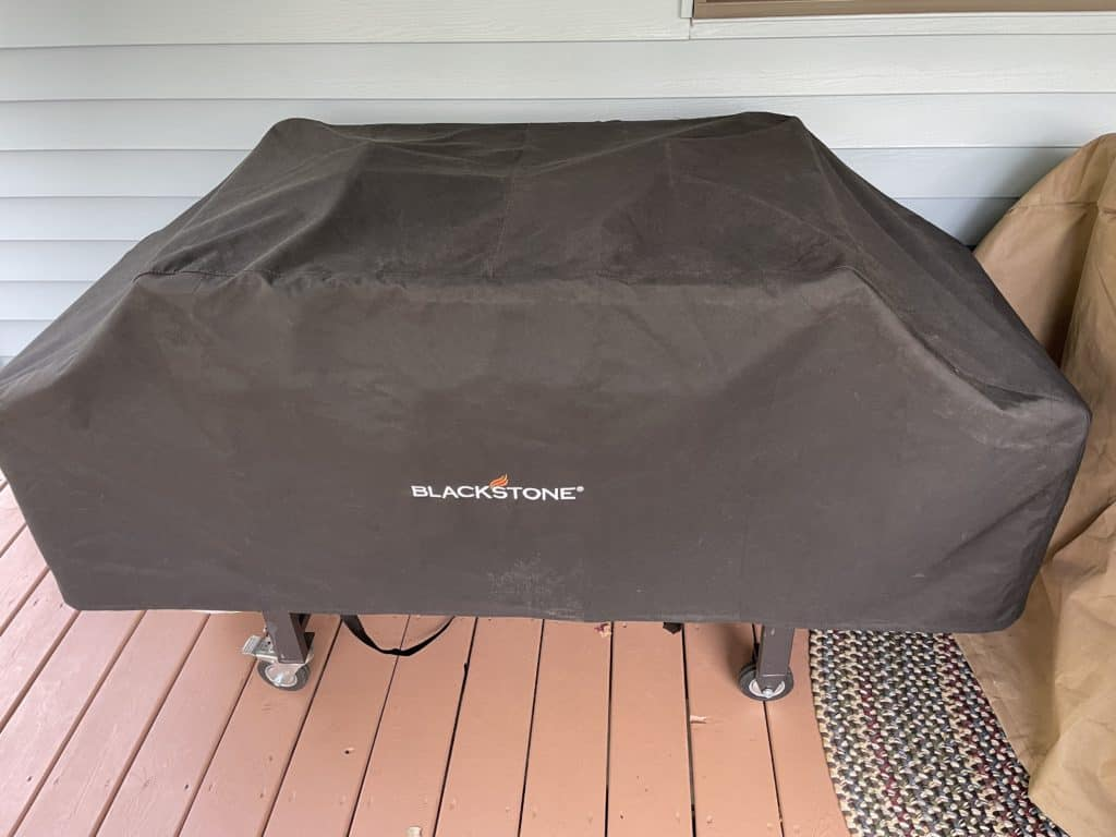Soft cover for a Blackstone Griddle.