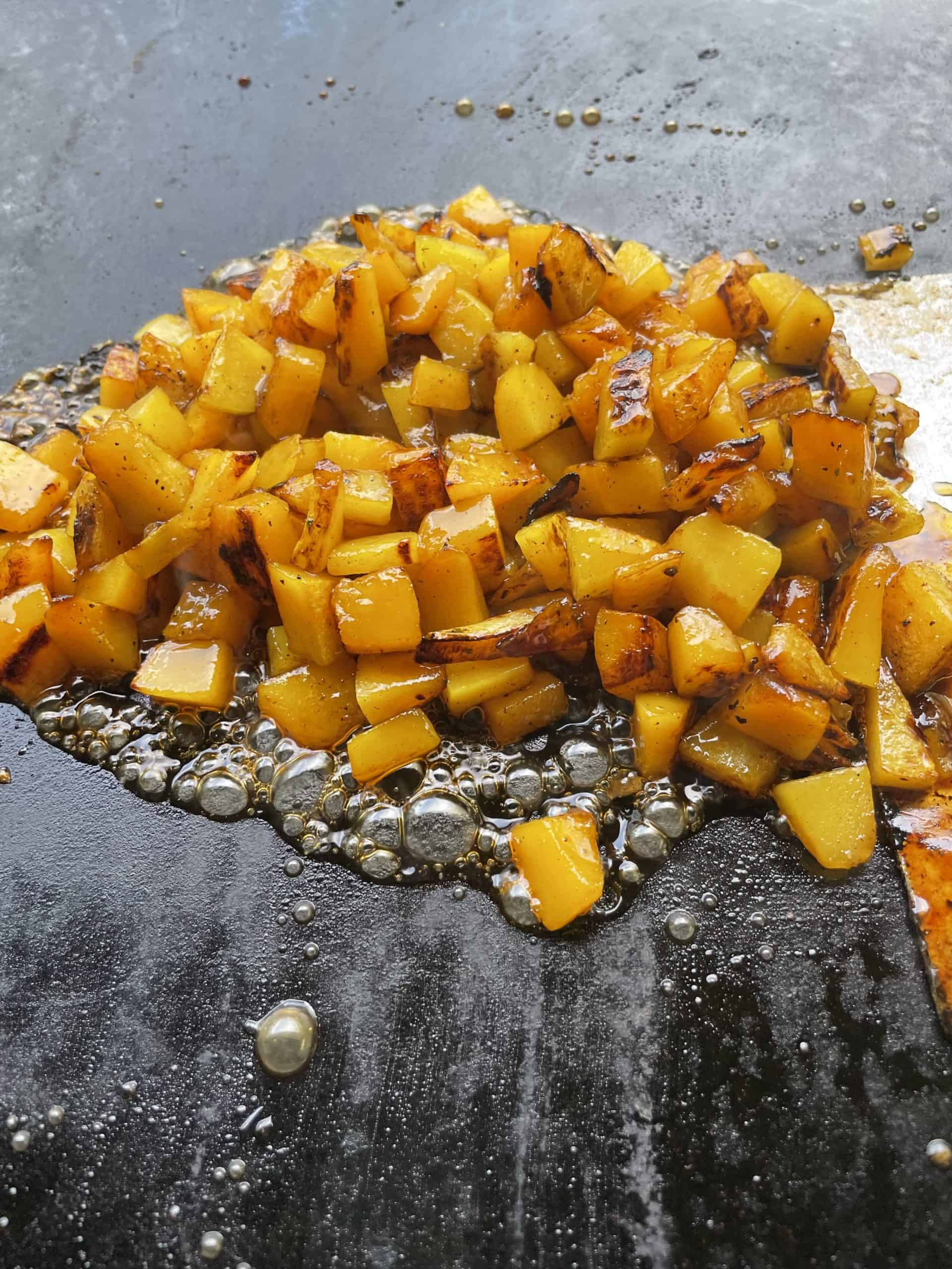 Sweetened griddle grilled  butternut squash.