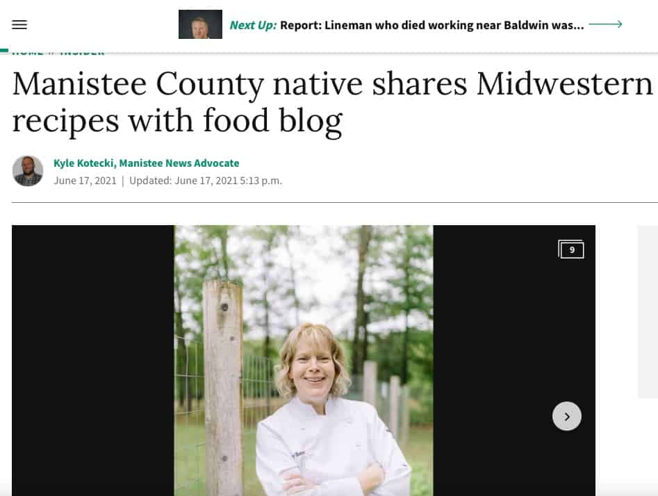 Manistee News Advocate - Sherry Ronning Feature