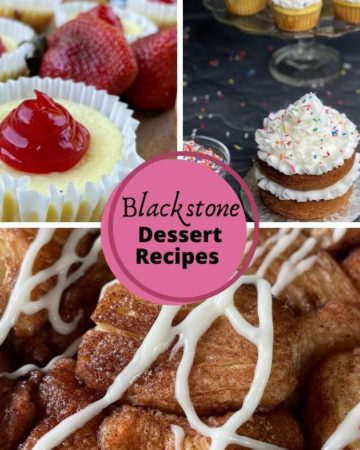 Blackstone Dessert Recipes: Mini Cheesecakes, Monkey Bread, Cakes and Cupcakes