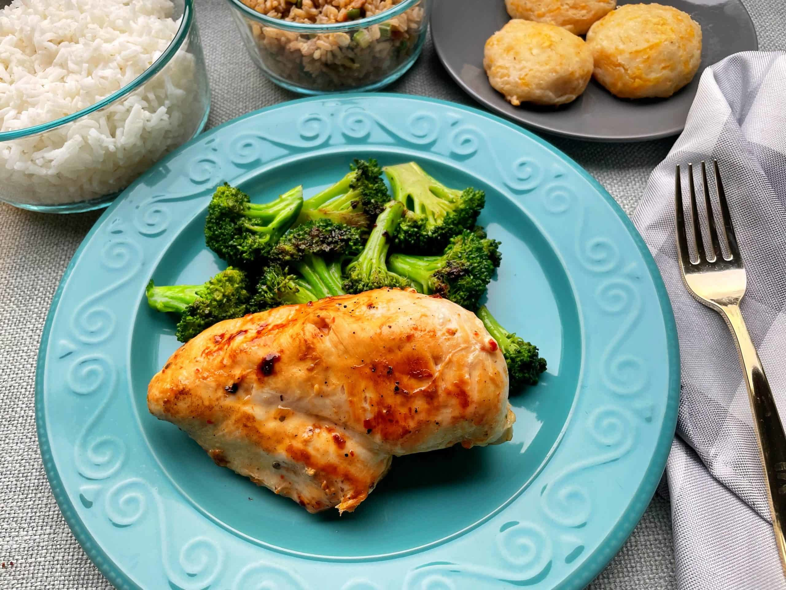 Easy Marinated Chicken Breast on a plate