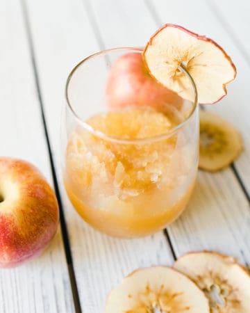 Dried Apple Slices for Apple Cider Cocktail